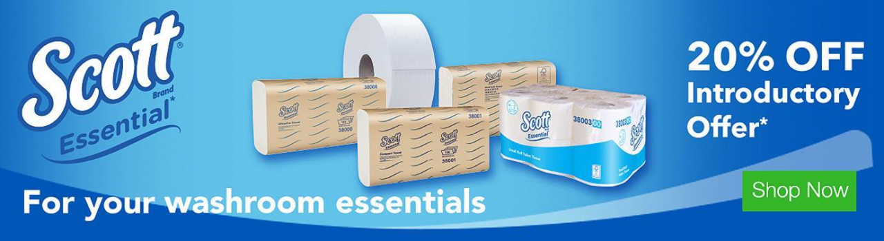 New Scott Essential Toilet Paper and Hand Towels, 20% Off, Ends 31/12/2017.
